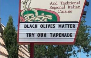 Black Olives Matter PR FAIL